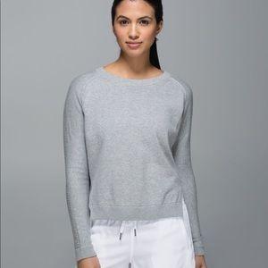 Lululemon Bhakti Life Sweater Heathered Grey